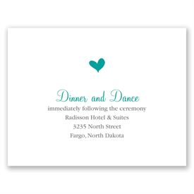 Perched Heart - Reception Card