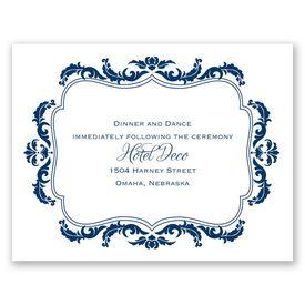 Flourish Crest - Reception Card