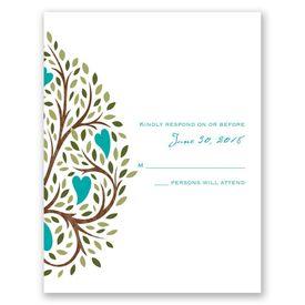Heart Blossoms - Response Card