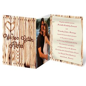 country wedding invitations gettin hitched photo invitation