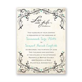 Blue Wedding Invitations: 