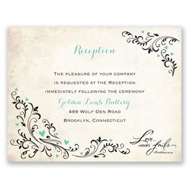 Blossoming Love - Reception Card