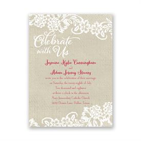 Shabby Chic Wedding Invitations: Country Details Petite Invitation