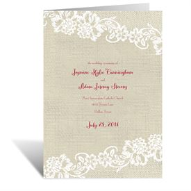 Country Details - Wedding Program