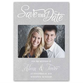 Save the Date Magnets: Simply Perfect  Save the Date Card