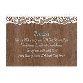 Woodgrain and Lace - Map Card