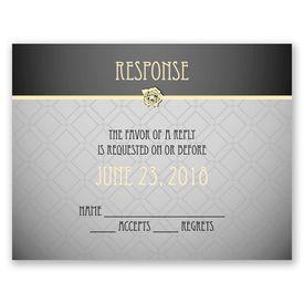 Rose Border - Response Card