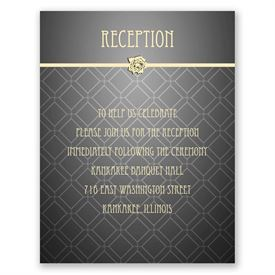 Rose Border - Reception Card
