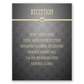 Rose Border - Reception Card