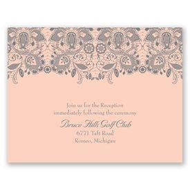 Lacy Romance - Reception Card