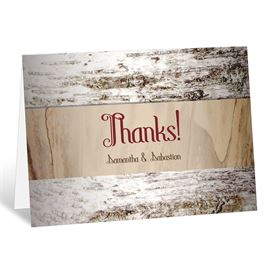 Aged Birch - Thank You Card