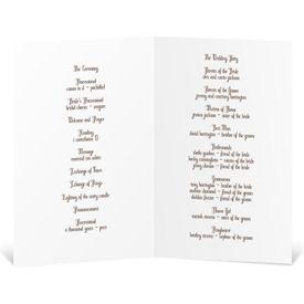 Birch Bark Heart - Wedding Program