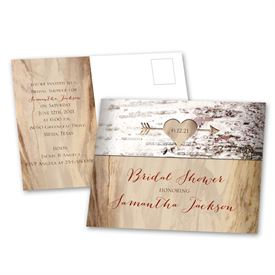 Bridal Shower Postcard Invitations: 