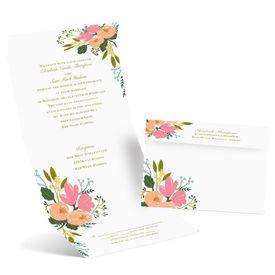 Painted Petals - Seal and Send Invitation