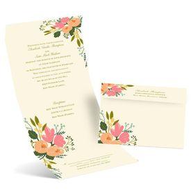 Wedding Invitations: Painted Petals Seal and Send Invitation