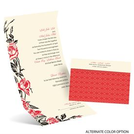 Rose Impression - Ecru - Seal and Send Invitation