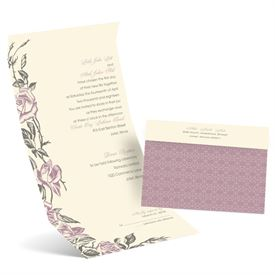 Seal and Send Wedding Invitations: Rose Impression Seal and Send Invitation