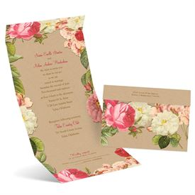 Vintage Blooms  Seal and Send Invitation
