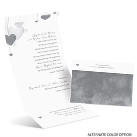 Suspended Hearts - Seal and Send Invitation