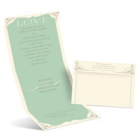 Radiant Love - Ecru - Seal and Send Invitation