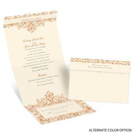 Victorian Romance - Ecru - Seal and Send Invitation