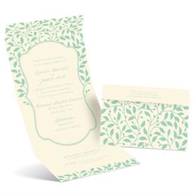 Lovebirds Haven - Ecru - Seal and Send Invitation