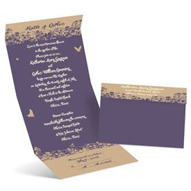 Seal And Send Wedding Invitations Erfly Silhouettes Invitation
