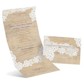Folded Wedding Invitations: 