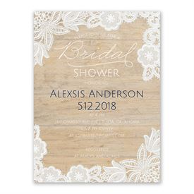 Cheap Bridal Shower Invitations: Vintage Country Bridal Shower Invitation