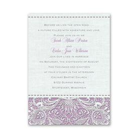 Petite Wedding Collection: Modern Lace  Petite Invitation