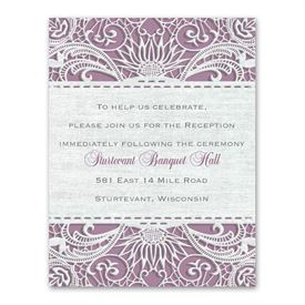 Modern Lace - Reception Card