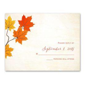 Maple Treasures - Response Card
