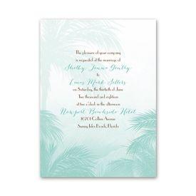 Beach Wedding Invitations Anns Bridal Bargains