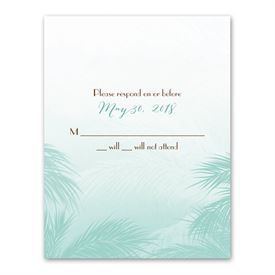 Tropical Haze - Response Card