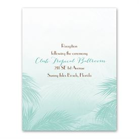 Tropical Haze - Reception Card