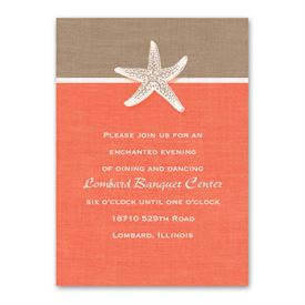 Starfish and Linen - Reception Card