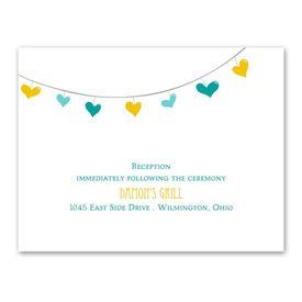 Lovely Garland - Reception Card