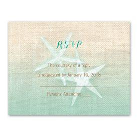 Starfish and Burlap - Response Card