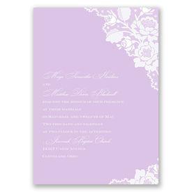 Elegant Wedding Invitations: Corner Lace  Invitation