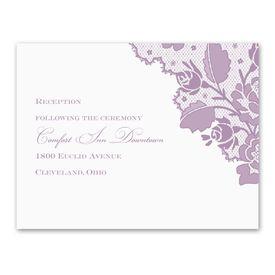 Corner Lace - Reception Card