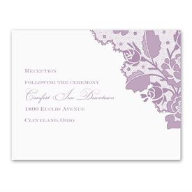 Corner Lace - Reception Card