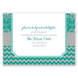 Elegant Patterns - Reception Card