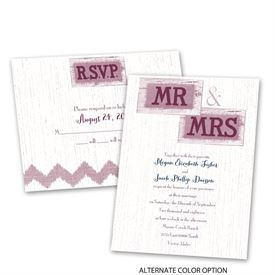 Country Couple - Invitation with Free Response Postcard
