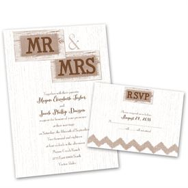 Bon Wedding Invites Free Respond Cards: Country Couple Invitation With Free  Response Postcard