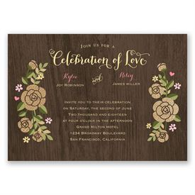 Rustic Whimsy - Invitation with Free Response Postcard