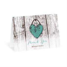Wood Heart - Thank You Card