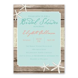 cheap bridal shower invitations beach retreat bridal shower invitation