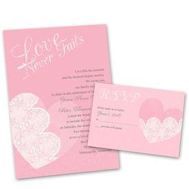 heart wedding invitations | ann's bridal bargains, Wedding invitations