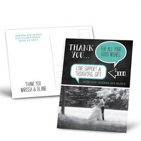 Thought Bubbles - Thank You Postcard
