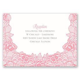 Lace Embrace - Reception Card